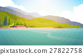 Summer Landscape Mountain Forest Sky Woods Seaside 27822758