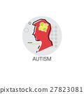 Autism Mental Health Brain Activity Icon 27823081