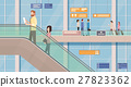 airport escalator vector 27823362