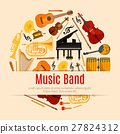 Musical instruments music band vector poster 27824312