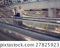 Senior couple traveling airport scene 27825923