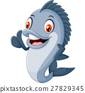 cartoon fish giving thumb up 27829345
