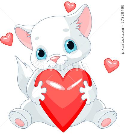 Valentines Kitten 27829499