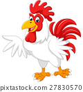 cartoon rooster presenting 27830570