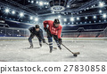 Hockey match at rink mixed media 27830858