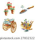 園藝 鏟車 花盆 27832322