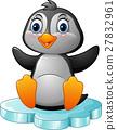 penguin,cartoon,ice 27832961