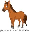 Cute cartoon brown horse 27832990