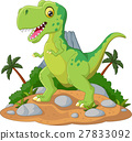 Cartoon Cute tyrannosaurus cartoon 27833092