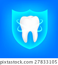 icon shield tooth 27833105