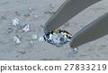 Luxury diamond in tweezer, 3D Rendering 27833219