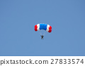 gestures of skydiving parachute extreme sport  27833574
