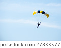 gestures of skydiving parachute extreme sport  27833577