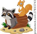 밑그림, 너구리, 다람쥐 27833743