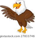 Eagle cartoon waving 27833746