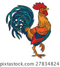 Vector illustration of a rooster 27834824