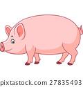 Cartoon happy pig 27835493