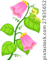 cartoon caterpillar on the plant 27835652