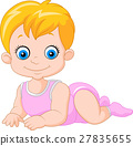 Cartoon baby boy crawling 27835655
