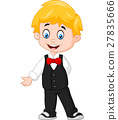cartoon Boy Wearing a Tuxedo 27835666