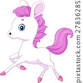 Cute baby pony jumping 27836285