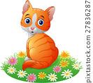 Cute cat cartoon 27836287