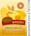 Bakery poster, vector illustration 27837258