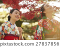 享受秋葉和外國女性的日本女性 27837856