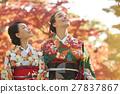 享受秋葉和外國女性的日本女性 27837867