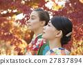 享受秋葉和外國女性的日本女性 27837894