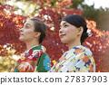 享受秋葉和外國女性的日本女性 27837903