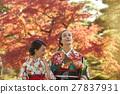 享受秋葉和外國女性的日本女性 27837931