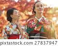 享受秋葉和外國女性的日本女性 27837947