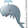 Funny cartoon whale 27838104