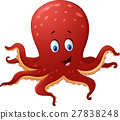Cartoon smiling octopus 27838248