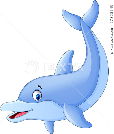 Cute dolphin cartoon 27838249
