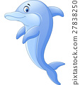 Cute dolphin cartoon 27838250