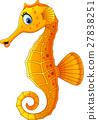 Cute seahorse cartoon 27838251