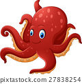 Cartoon smiling octopus 27838254