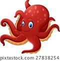 Cartoon smiling octopus 27838254