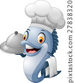 cartoon chef fish 27838320