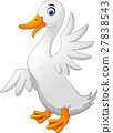 Cute duck cartoon waving 27838543