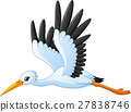 Cartoon stork flying 27838746