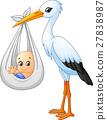 황새, 밑그림, 새 27838987