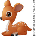 Mouse Deer cartoon illustration 27838989