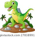 Cartoon Cute tyrannosaurus cartoon 27838991