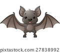 Cute bat cartoon flying 27838992