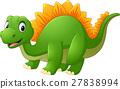 Cartoon happy dinosaur 27838994