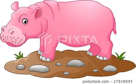 Cute hippo cartoon 27838995