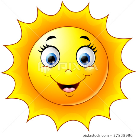 Cute Cartoon Sun Stock Illustration 27838996 Pixta
